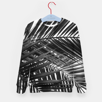 Thumbnail image of Tropical Palm Leaves - Black and White Kid's sweater, Live Heroes