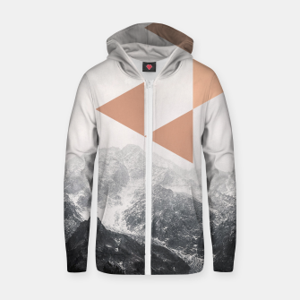 Morning in the Mountains Zip up hoodie Bild der Miniatur