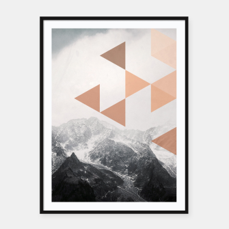 Miniatur Morning in the Mountains Framed poster, Live Heroes
