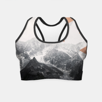 Morning in the Mountains Crop Top Bild der Miniatur