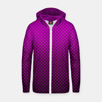 Miniaturka  Purple, Polka Dot, Contemporary, Popular Zip up hoodie, Live Heroes