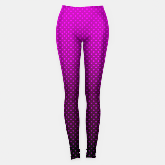 Purple, Polka Dot, Contemporary, Popular Leggings miniature