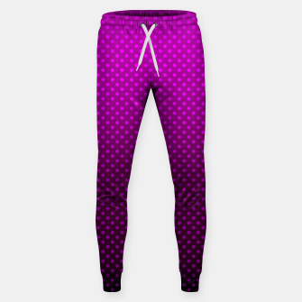 Miniatur  Purple, Polka Dot, Contemporary, Popular Sweatpants, Live Heroes