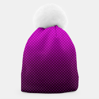 Purple, Polka Dot, Contemporary, Popular Beanie miniature