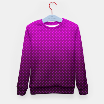 Purple, Polka Dot, Contemporary, Popular Kid's sweater miniature