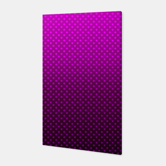 Purple, Polka Dot, Contemporary, Popular Canvas miniature