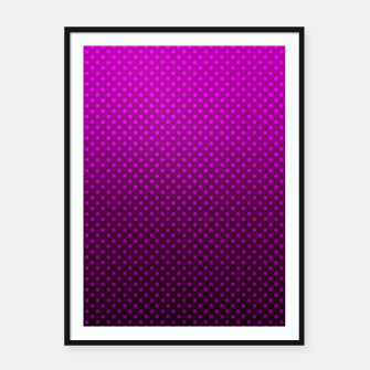 Purple, Polka Dot, Contemporary, Popular Framed poster miniature