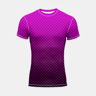 Thumbnail image of  Purple, Polka Dot, Contemporary, Popular Shortsleeve rashguard, Live Heroes