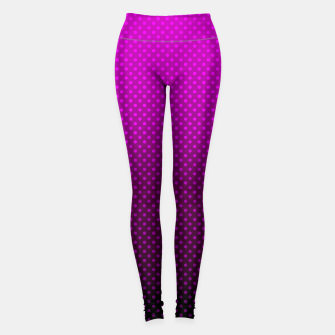 Miniaturka  Purple, Polka Dot, Contemporary, Popular Leggings, Live Heroes