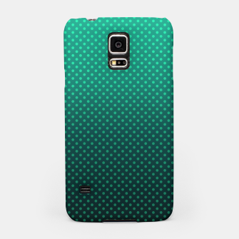 Thumbnail image of Ombre, gradient, Dot, turkusowy Dot, Moda, turkusowy Ombre Samsung Case, Live Heroes