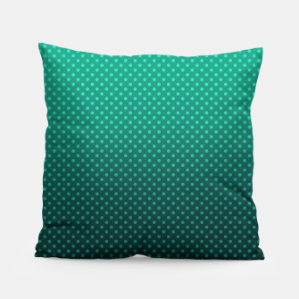 Thumbnail image of Ombre, gradient, Dot, turkusowy Dot, Moda, turkusowy Ombre Pillow, Live Heroes