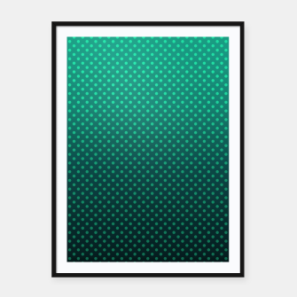 Thumbnail image of Ombre, gradient, Dot, turkusowy Dot, Moda, turkusowy Ombre Framed poster, Live Heroes