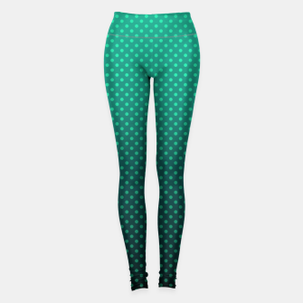 Thumbnail image of Ombre, gradient, Dot, turkusowy Dot, Moda, turkusowy Ombre Leggings, Live Heroes