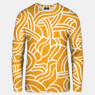 Thumbnail image of Mustard yellow line pattern Unisex sweater, Live Heroes