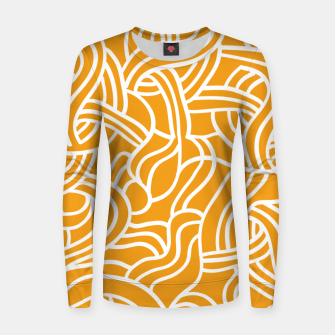 Thumbnail image of Mustard yellow line pattern Women sweater, Live Heroes