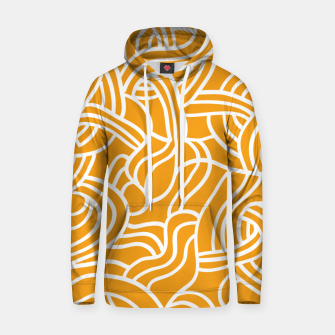 Thumbnail image of Mustard yellow line pattern Hoodie, Live Heroes