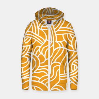 Thumbnail image of Mustard yellow line pattern Zip up hoodie, Live Heroes