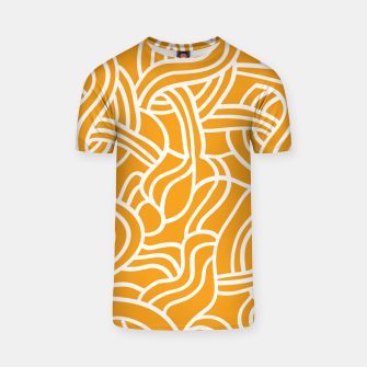 Thumbnail image of Mustard yellow line pattern T-shirt, Live Heroes