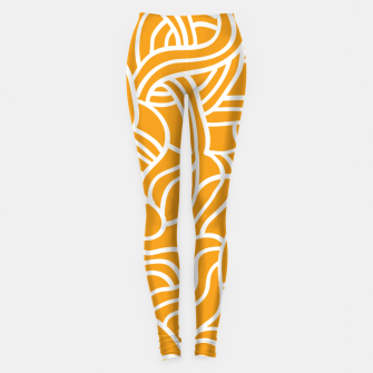 Thumbnail image of Mustard yellow line pattern Leggings, Live Heroes