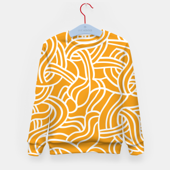 Thumbnail image of Mustard yellow line pattern Kid's sweater, Live Heroes