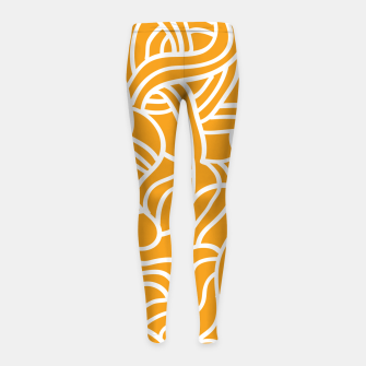 Thumbnail image of Mustard yellow line pattern Girl's leggings, Live Heroes
