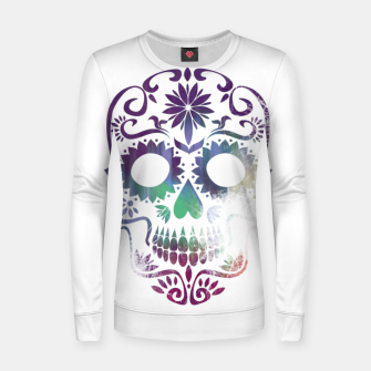Miniatur Cracked Skull  Women sweater, Live Heroes