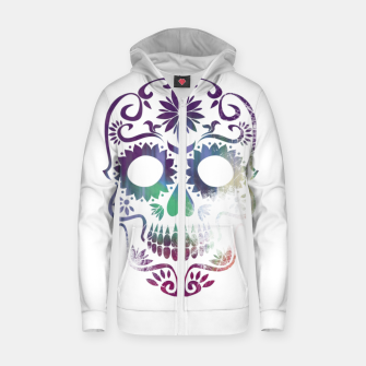 Miniatur Cracked Skull  Zip up hoodie, Live Heroes
