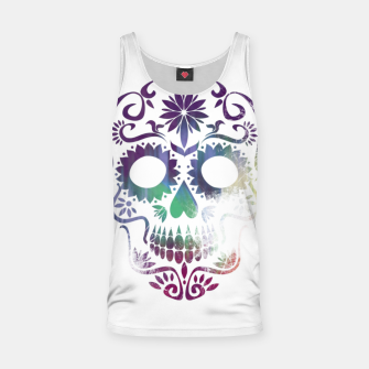 Thumbnail image of Cracked Skull  Tank Top, Live Heroes