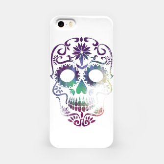 Miniatur Cracked Skull  iPhone Case, Live Heroes