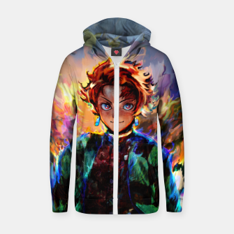 demon slayer Zip up hoodie obraz miniatury