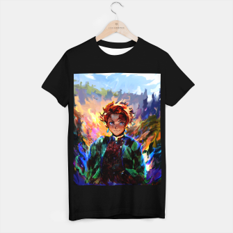 demon slayer T-shirt regular obraz miniatury