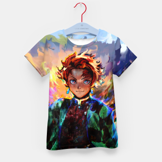 demon slayer Kid's t-shirt obraz miniatury