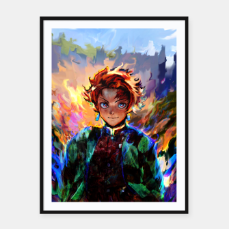 demon slayer Framed poster obraz miniatury