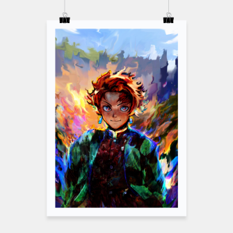 demon slayer Poster obraz miniatury