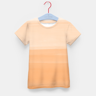 Miniatur Touching Orange Watercolor Abstract #1 #painting #decor #art T-Shirt für kinder, Live Heroes