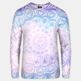 Miniaturka Heart Mandala on Unicorn Pastel Clouds #1 #decor #art Unisex sweatshirt, Live Heroes