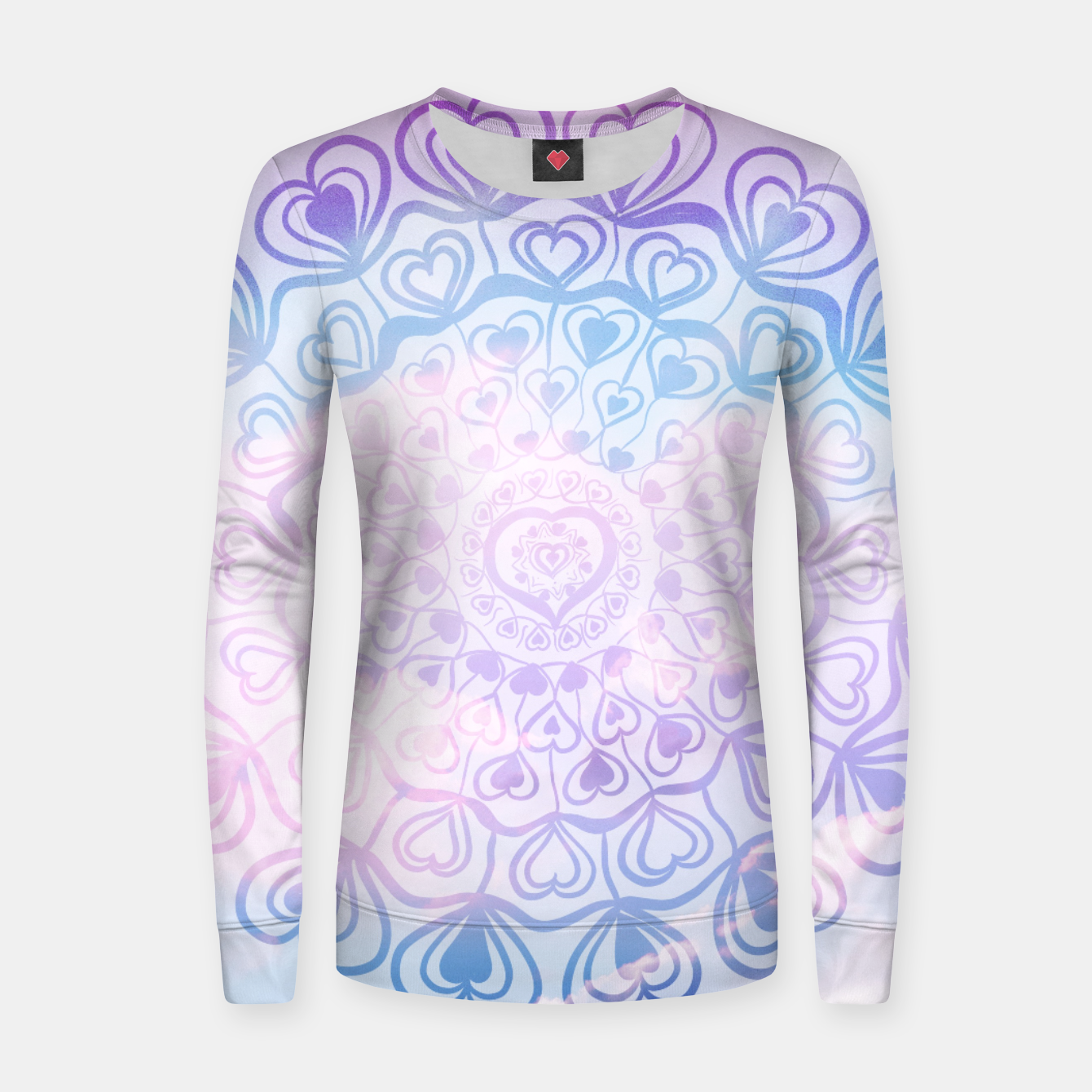 Image of Heart Mandala on Unicorn Pastel Clouds #1 #decor #art Frauen sweatshirt - Live Heroes