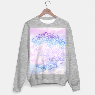 Heart Mandala on Unicorn Pastel Clouds #1 #decor #art Sweatshirt regulär thumbnail image