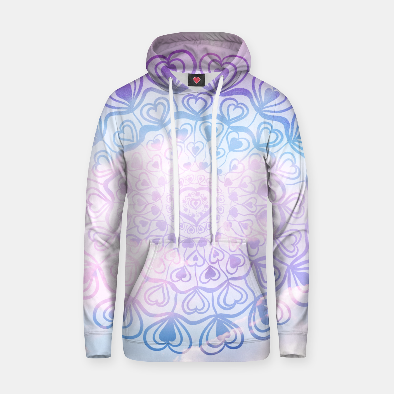 Image of Heart Mandala on Unicorn Pastel Clouds #1 #decor #art Kapuzenpullover - Live Heroes