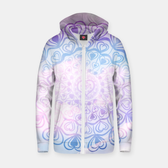 Miniaturka Heart Mandala on Unicorn Pastel Clouds #1 #decor #art Reißverschluss kapuzenpullover, Live Heroes