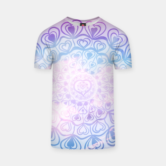Miniaturka Heart Mandala on Unicorn Pastel Clouds #1 #decor #art T-Shirt, Live Heroes
