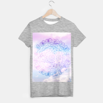 Heart Mandala on Unicorn Pastel Clouds #1 #decor #art T-Shirt regulär thumbnail image