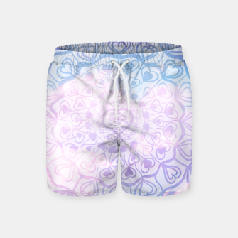 Miniaturka Heart Mandala on Unicorn Pastel Clouds #1 #decor #art Badeshorts, Live Heroes