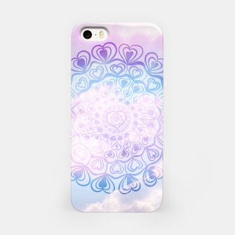 Heart Mandala on Unicorn Pastel Clouds #1 #decor #art iPhone-Hülle thumbnail image