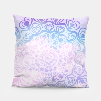 Heart Mandala on Unicorn Pastel Clouds #1 #decor #art Kissen thumbnail image