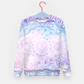 Miniaturka Heart Mandala on Unicorn Pastel Clouds #1 #decor #art Kindersweatshirt, Live Heroes