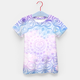 Heart Mandala on Unicorn Pastel Clouds #1 #decor #art T-Shirt für kinder thumbnail image