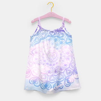 Miniaturka Heart Mandala on Unicorn Pastel Clouds #1 #decor #art Mädchenkleid, Live Heroes