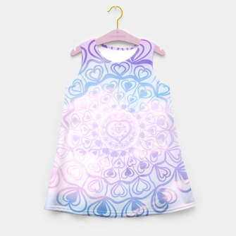 Heart Mandala on Unicorn Pastel Clouds #1 #decor #art Mädchen-Sommerkleid thumbnail image