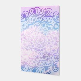 Heart Mandala on Unicorn Pastel Clouds #1 #decor #art Canvas thumbnail image